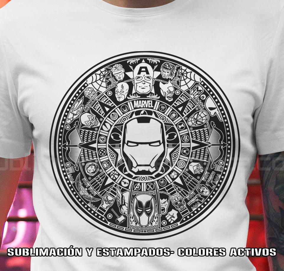 Calendario Azteca Vectores.Calendario Azteca Marvel Sublima Imprime Y Corta